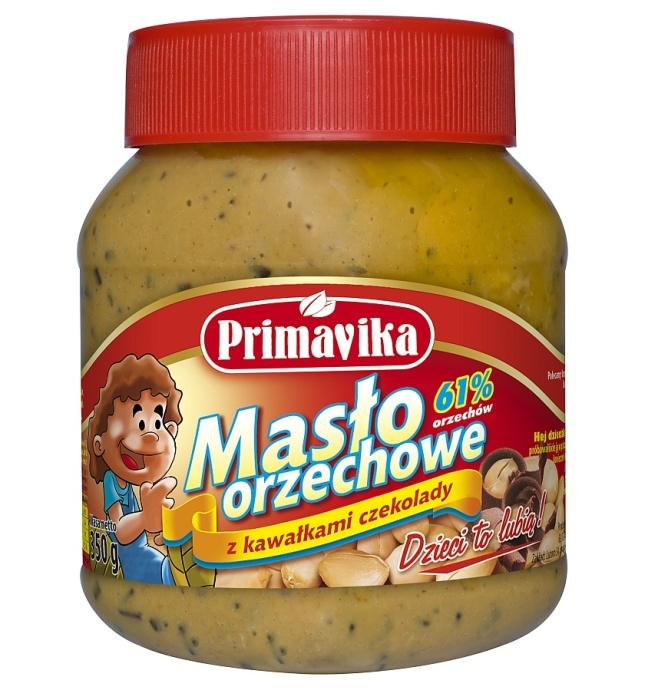 Masło orzechowe z kawałkami czekolady - Primavika