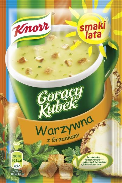 Gorący Kubek Knorr - Warzywna z grzankami