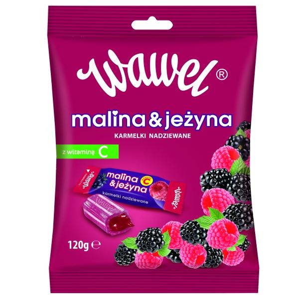 Karmelki Malina i Jeżyna 120g Wawel
