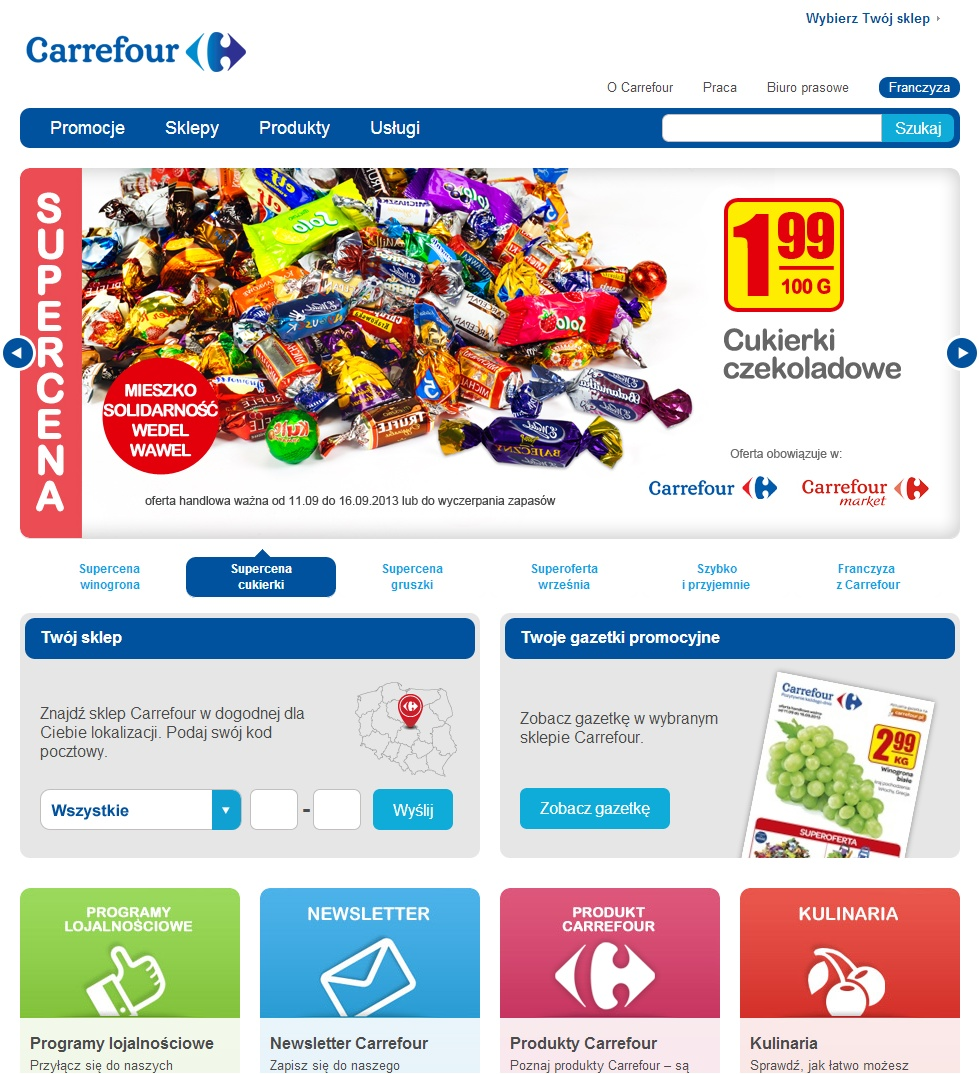 Nowa strona Carrefour