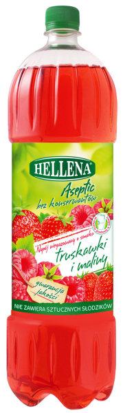 Napój niegazowany Hellena o smaku truskawka malina