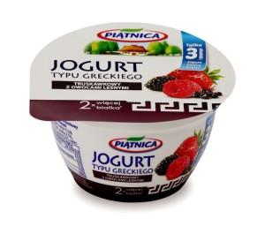 Jogurty typu greckiego - truskawkowy z owocami leśnymi
