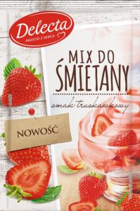 Mix do śmietany truskawkowy Delecta