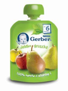Gerber Owocowe tubki Jabłko gruszka