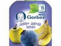 Gerber Owocowe tubki Jabłko jagoda banan
