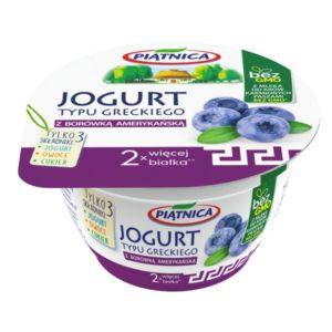 Owocowy jogurt typu greckiego z borowka amerykanska OSM Piątnica