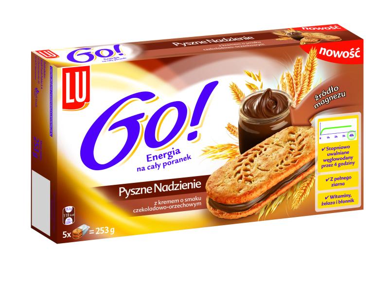 lu go! sandwich box 253g czekolada orzech