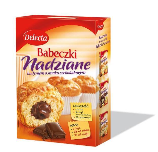 Delecta Babeczki nadziane wanilia i czekolada