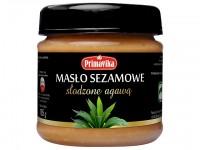 Masło sezamowe słodzone agawą
