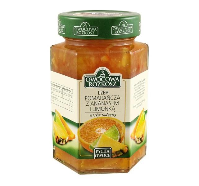 Dżem Owocowa Rozkosz - pomarańcza ananas limonka