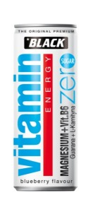 Black Vitamin Energy - Magnez B6 zero cukru