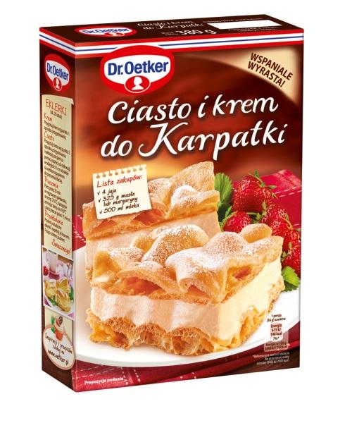 Ciasto i krem do Karpatki Dr Oetker