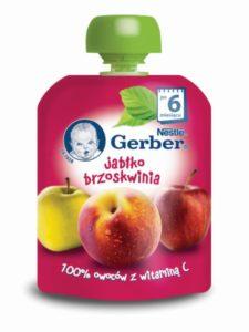 Gerber Owocowe tubki Jabłko brzoskwinia