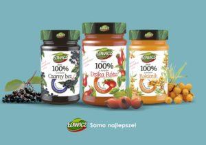 Dżemy Łowicz 100% z owoców z funkcją prozdrowotną