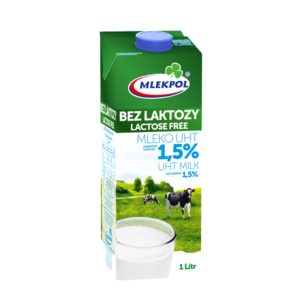 MLEKPOL mleko bez laktozy 1,5%
