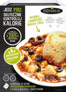 Joyfood - Kurczak w sosie śródziemnomorskim z kaszą bulgur i warzywami