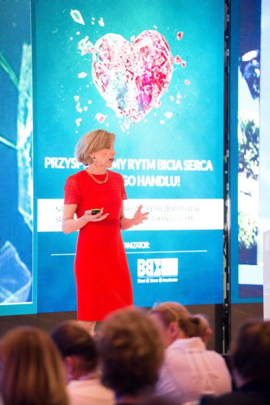 Geraldine Huse podczas Retail Summit 2019
